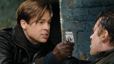 Brad Pitt plays Max Vatan and Thierry Fremont plays Paul Delamare in Allied from Paramount Pictures.