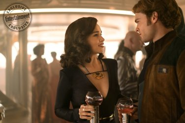 SOLO: A STAR WARS STORY Emilia Clarke is Qi'ra and Alden Ehrenreich is Han Solo